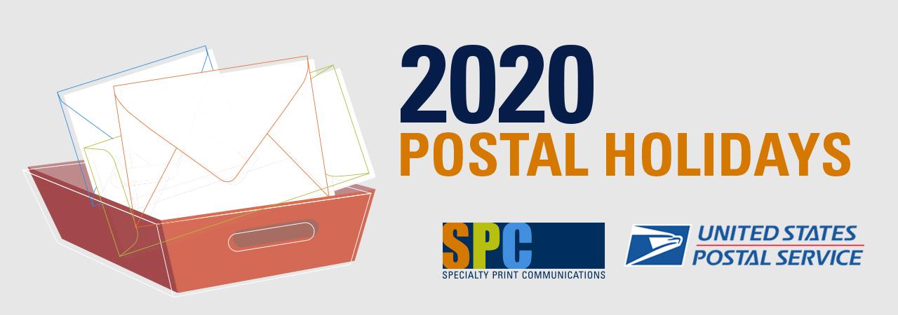 DOWNLOAD: 2020 Postal Holiday Calendar